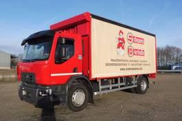 schuifzeil vrachtwagen Renault D 19.285 L - 4x2 - 18.570 Km ORIGINAL - ELEKTRISCH ZEIL + LAADKLEP 2.000 KG - ZO AS NIEUW