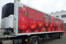 koel-vries oplegger Schmitz Cargobull 1 achs City Kühlauflieger Lenkachse Carrier Diesel 11 m luft Hebebühne 2 to zwillings 2013