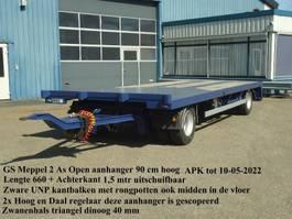 schamelaanhanger vrachtwagen GS GS 2 As Open aanhanger Zware UNP kantbalken Uitschuifbaar achterkalf 2004