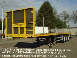 platte oplegger Burg BURG 3 As Open oplegger Hardhoutenvloer Twistlocks Rongpotten Liftas 2000