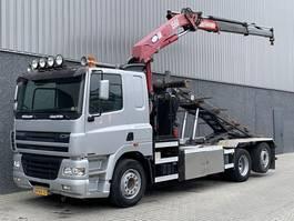 containersysteem vrachtwagen DAF CF85-380 / HMF 15t/m Kraan / Kabel / 6x2 / 5e en 6e Functie / LOW KM / NL Truck 2006
