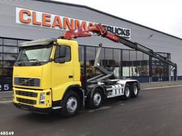 containersysteem vrachtwagen Volvo FH 380 8X4 HMF 18 ton/meter laadkraan 2004