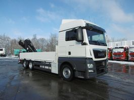 open laadbak vrachtwagen MAN 26.440 TGX Pritsche Kran Lift-Lenkachse Euro 6 2015
