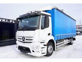 schuifzeil vrachtwagen Mercedes-Benz Antos 1830 , E6 , 4x2 , retarder , 18 EPAL , for steel transport 2018