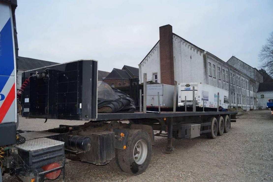 houtoplegger Schmitz Cargobull 3-assige oplegger 2001