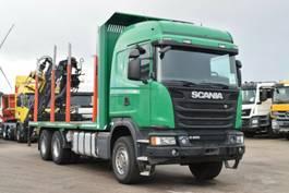 houttransporter vrachtwagen Scania R490 Euro6 6x4 Kurzholzzug Loglift Z115 Retarder 2014