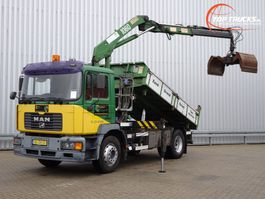 kipper vrachtwagen > 7.5 t MAN 18.240 HMF 10TM Kraan, Crane, Kran - Kipper, Tipper - NL Truck!! Manuel 2002