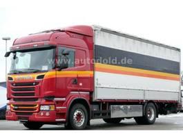 huifzeil vrachtwagen Scania R450 Euro 6 Pritsche Plane Edscha LBW 2000kg 2014