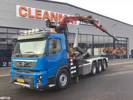 containersysteem vrachtwagen Volvo FMX 460 8x4 Penz 16 ton/meter Z-kraan 2011