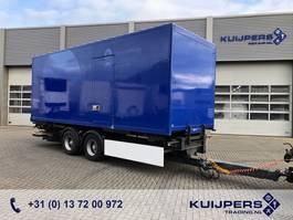 gesloten opbouw aanhanger Samro CD 18 / 2 as Middenas Wipkar / BDF / Box / Laadklep 1500 KG 2008