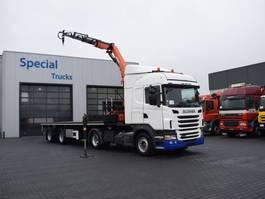 overige opleggers Scania G440 4x2 Highline Euro 5 / Retarder (2010) + Royen Oplegger + Palfinger PK13001 K (2011) 2011