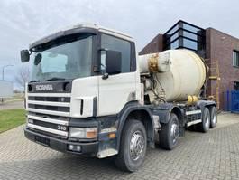 betonmixer vrachtwagen Scania 114.340 8x4 / 8.000 L Liebherr Mixer / Full Steel 1998