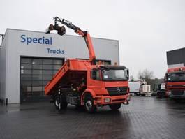 kipper vrachtwagen > 7.5 t Mercedes-Benz Axor 1833 Meiler Kipper (3 way) + Kraan Palfinger PK12001 (euro 5) 2009