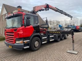containersysteem vrachtwagen Scania P420 8X4 EURO 3 FASSI 240/ VDL 25 TON HOOKARM 2006