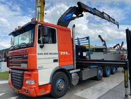 open laadbak vrachtwagen DAF XF 105.410 FAK 8X2 MANUAL EURO 5 + EFFER 45/4S 2006