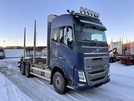 houttransporter vrachtwagen Volvo FH600, 6x4, Manual, Steel/Air, Timber-truck, 2014 2014
