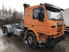 containersysteem vrachtwagen Scania P112 6x2 **FULL STEEL-LAMES-10TYRE** 1988