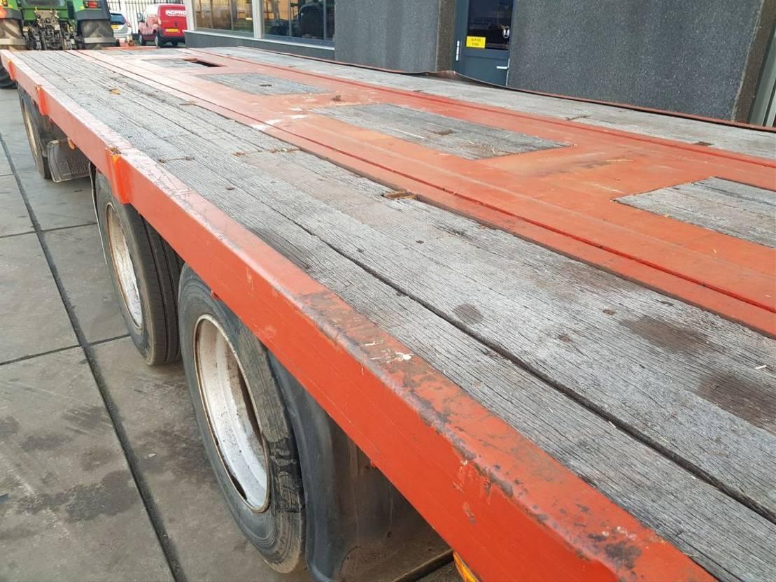 platte aanhanger vrachtwagen Floor 3 as