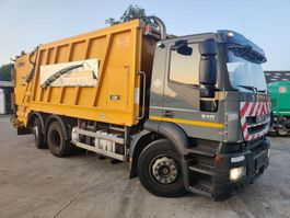 vuilniswagen vrachtwagen Iveco 310 Stralis 6X2 + FAUN Wastecolletor / Müllwagen / Benne ordures 2009