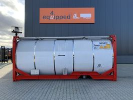 tankcontainer Van Hool 24.900L TC, 2 comp.(7.500L/17.400L), UN PORT., T11, L4BN, CSC: 02-2022, extra pressure pipes 2005