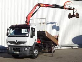 kipper vrachtwagen > 7.5 t Renault Premium Lander 320 DXI 11 TM Kraan, Crane, Kran - Kipper, Tipper 2007