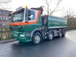 kipper vrachtwagen > 7.5 t DAF FAD CF85 460 Kipper Mit Kran Hiab 144 E 2011
