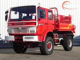 brandweerwagen vrachtwagen Renault M150 Midliner 4x4 - 2.000 ltr watertank - feuerwehr - fire brigade - bra... 1995