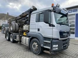 houttransporter vrachtwagen MAN TGS 33.480 6x4 SZM Langholz Kran 7,5 m *Anhänger 2012