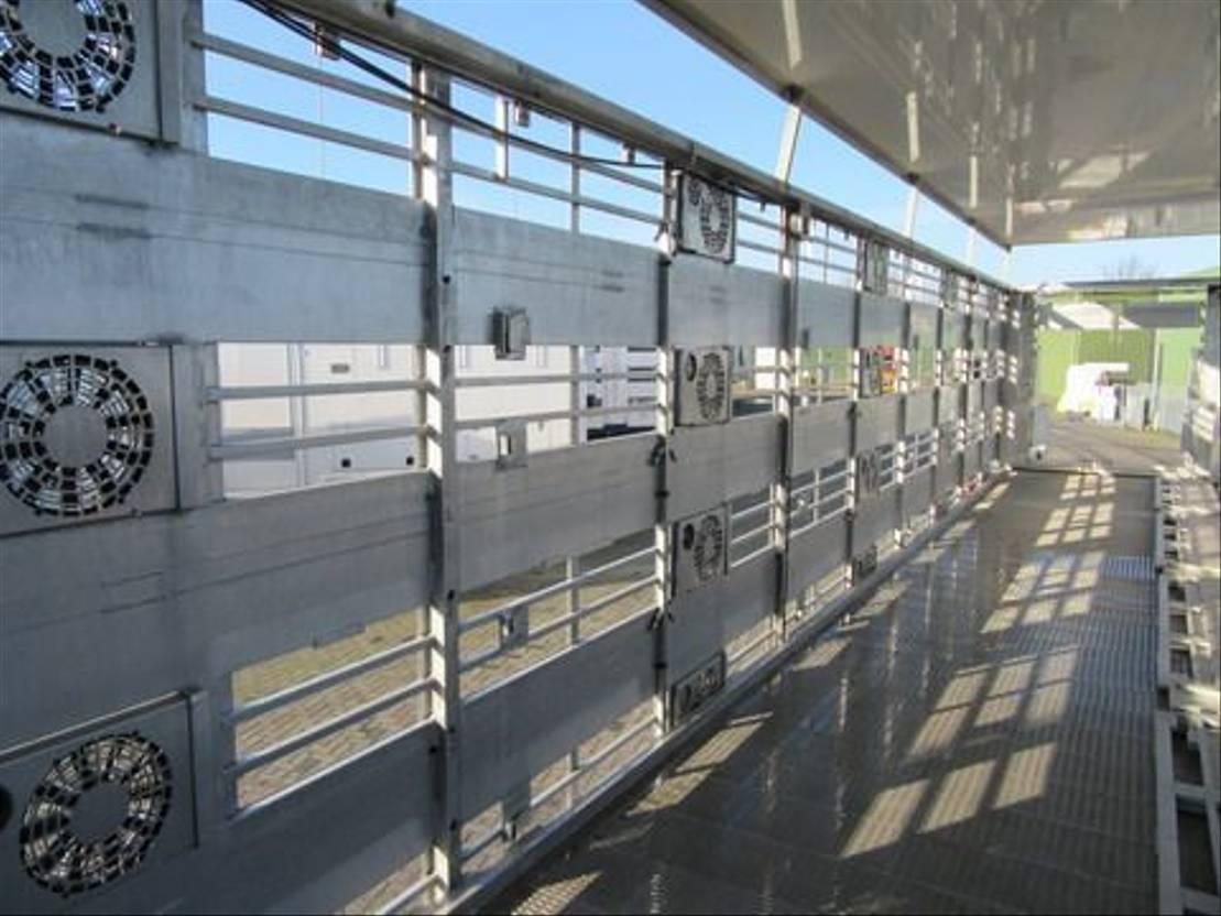 vee oplegger CUPPERS LVO 12-27 ASL 4 Levels Livestock trailer 2008