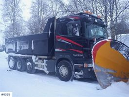 kipper vrachtwagen > 7.5 t Scania R500 8x4 tipper w / dumper box & asphalt tub WATCH 2007