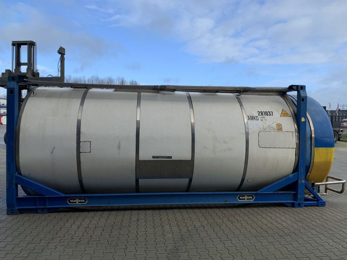 tankcontainer Van Hool 20FT, swapbody TC 28.200L, L4BN, UN PORTABLE, T7, CSC: 07/2023 2003