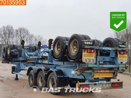 container chassis oplegger ASCA 2 axles Package of 3! Steelsuspension! 2007