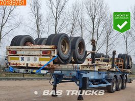 container chassis oplegger ASCA 3 Units! Steel suspension 2 axles 1x20-2x20-1x30-1x40ft 2005