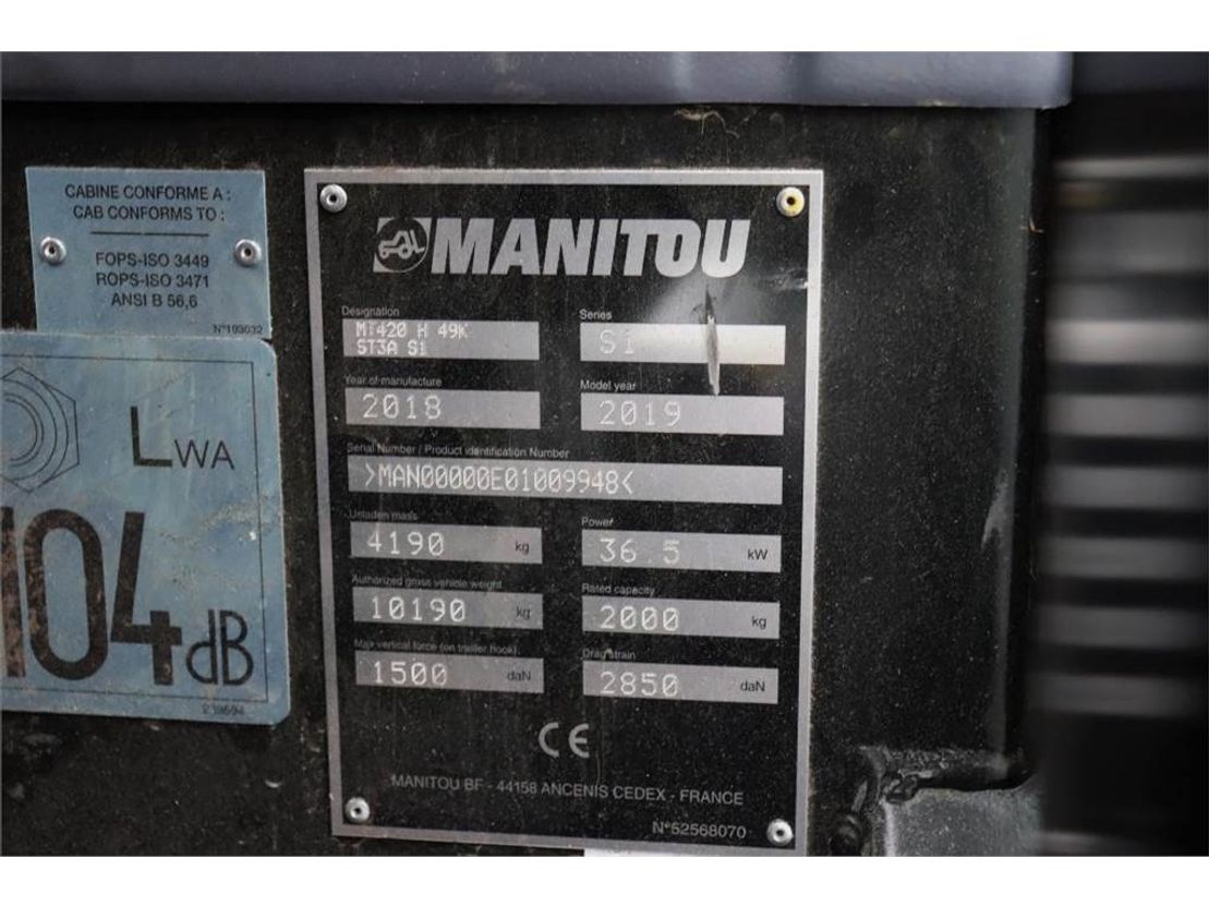 starre verreiker Manitou MT420 Valid inspection, *Guarantee! 2t Cap. 4.30m 2019