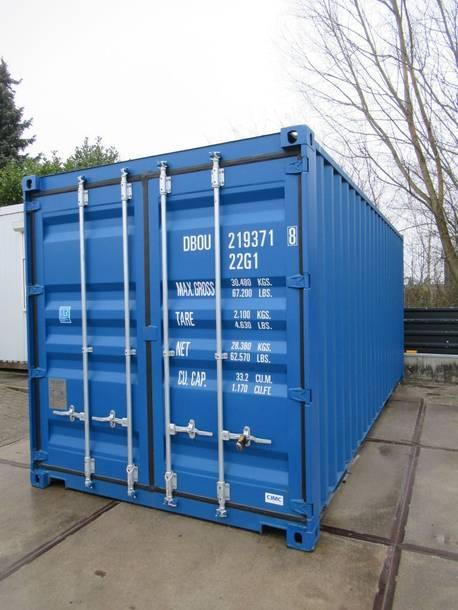 dry standaard zeecontainer NIEUWE 20 ft containers (6 meter) tbv bouw / opslag te koop 2021