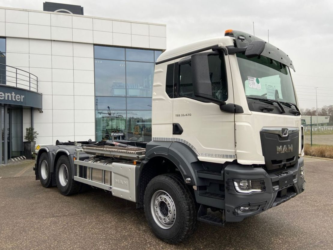 containersysteem vrachtwagen MAN New Generation TGS 33.470 6x4 BL-NN containerhaak wb 3600 2x 2021
