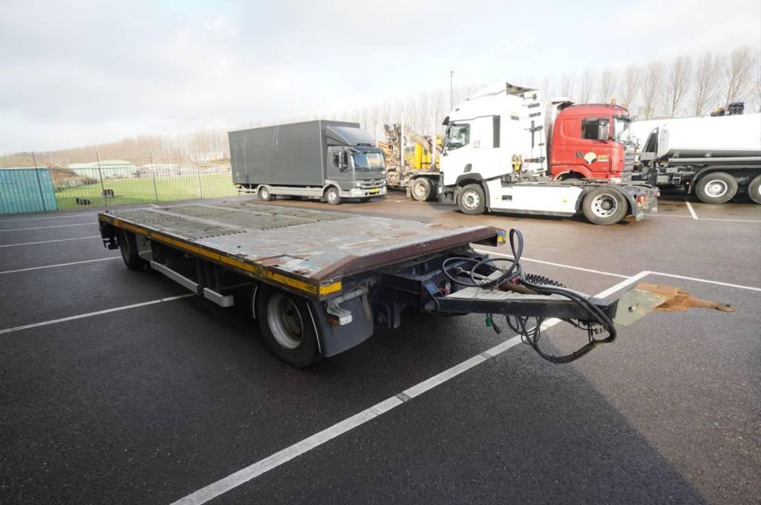 platte aanhanger vrachtwagen GS Meppel 2 AXLE FLATBED WITH TWISTLOCKS 2010