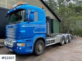 containersysteem vrachtwagen Scania R480 8x4 Hook Truck Tridem 2011