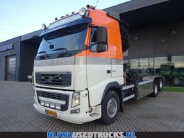 containersysteem vrachtwagen Volvo FH 460 Hiab 322 E-6 Hipro + HTS Kabelsysteem 24 T 2010