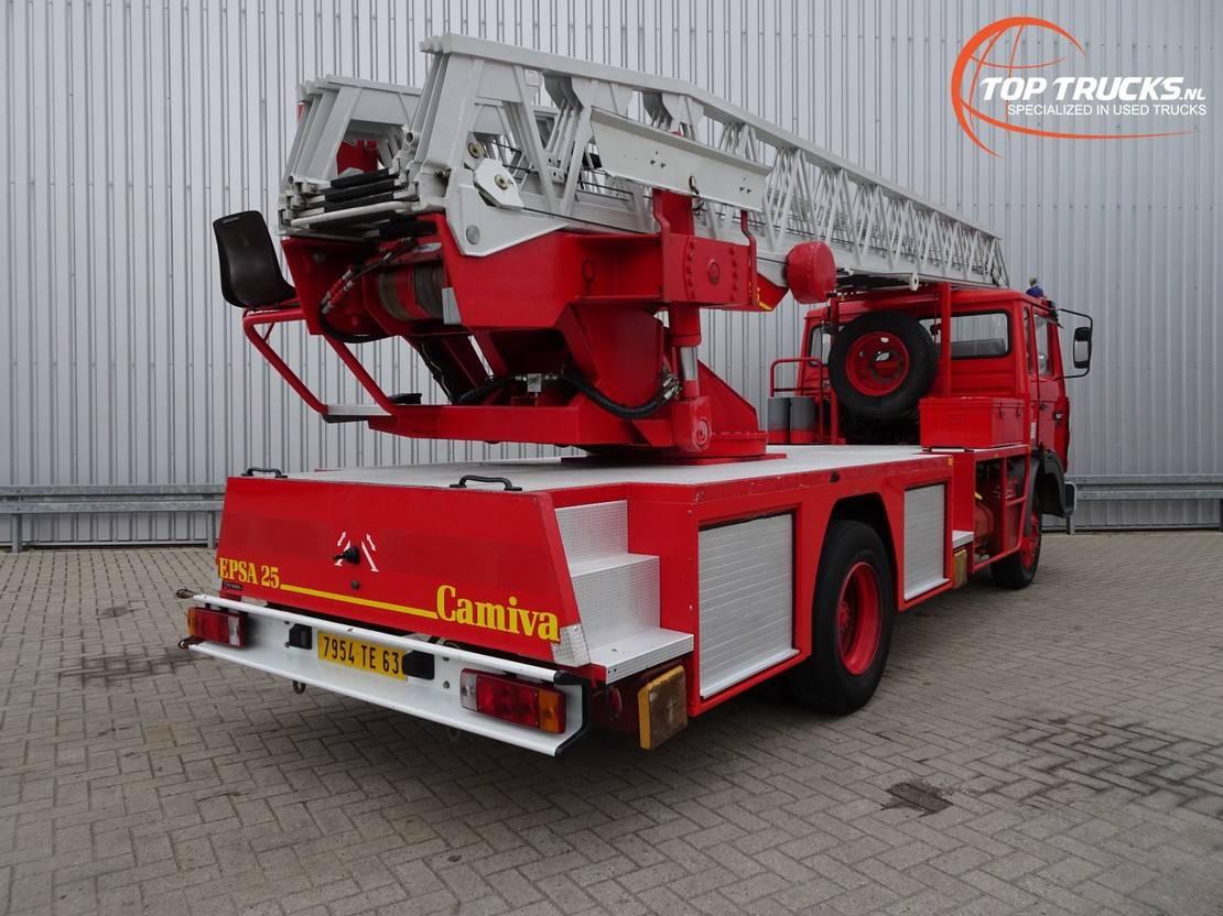 autohoogwerker vrachtwagen Renault Midliner 150 S150 TI Camiva EPSA 25 Ladderwagen, Ladder Truck, Arbeitsbuhne 1988
