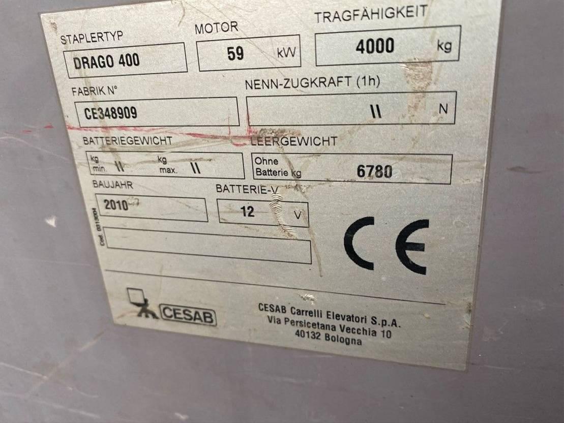 vorkheftruck CESAB Drago 400 4 ton Diesel Triplo Freelift Sideshift Heftruck 2010