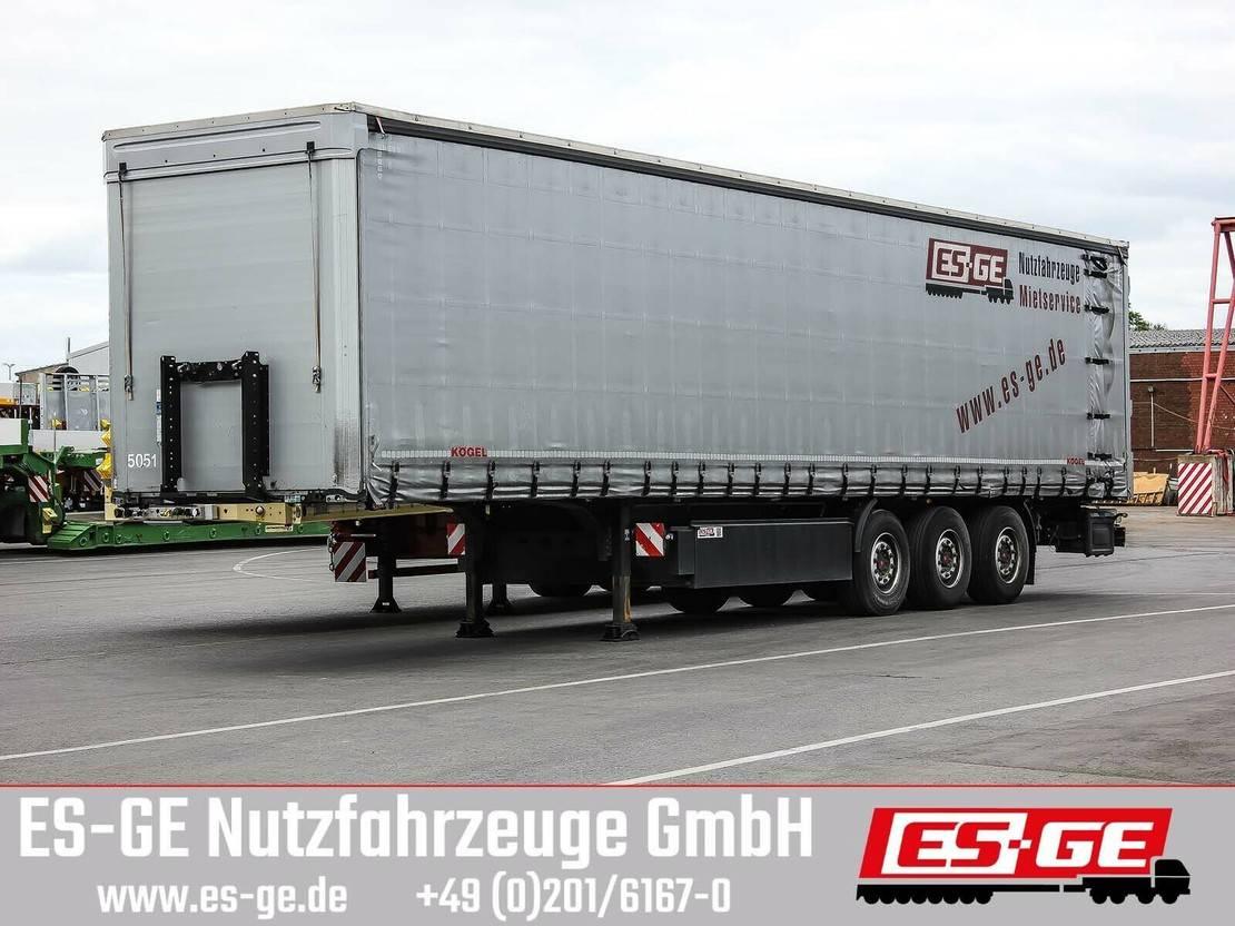 huifzeil oplegger Kögel 3-Achs-Cargo-Pritschensattelanhänger 2018