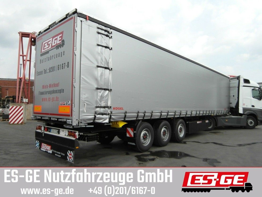 huifzeil oplegger Kögel 3-Achs-Cargo-Coil-Pritschensattelanhänger 2017