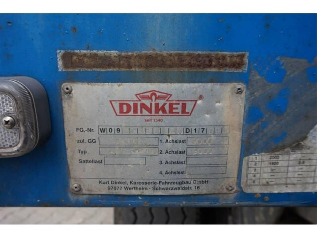 huifzeil aanhanger Dinkel DAP 18000 2006