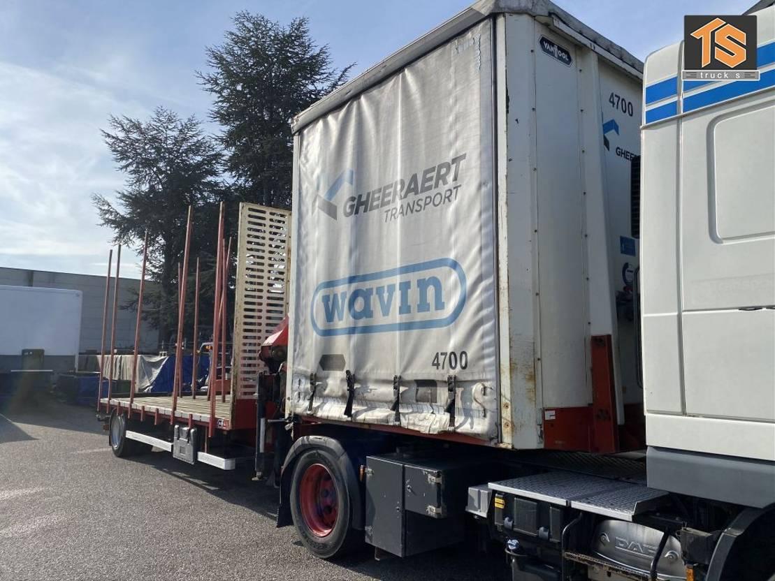 platte aanhanger vrachtwagen Van Hool City trailer Cran/Krane HMF - BELGIUM TOP TRAILER 2012
