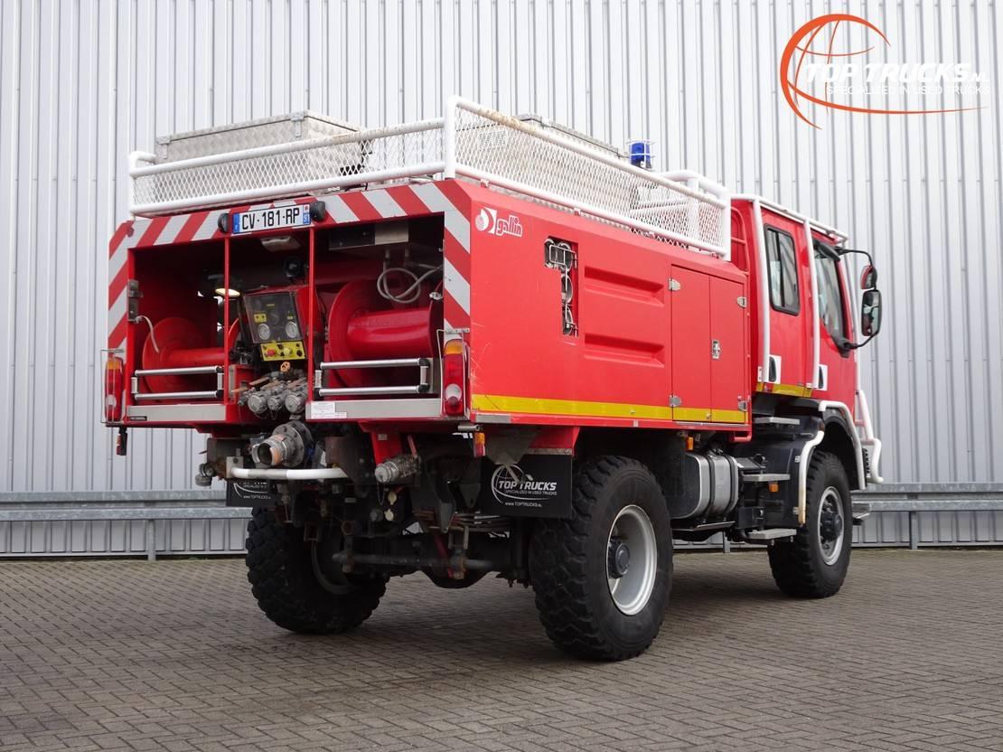 brandweerwagen vrachtwagen Renault Midlum 220 DCI 4x4 Doppelcabine - 3.000 ltr watertank - 200 ltr Foam - Feuerwehr, F... 2005