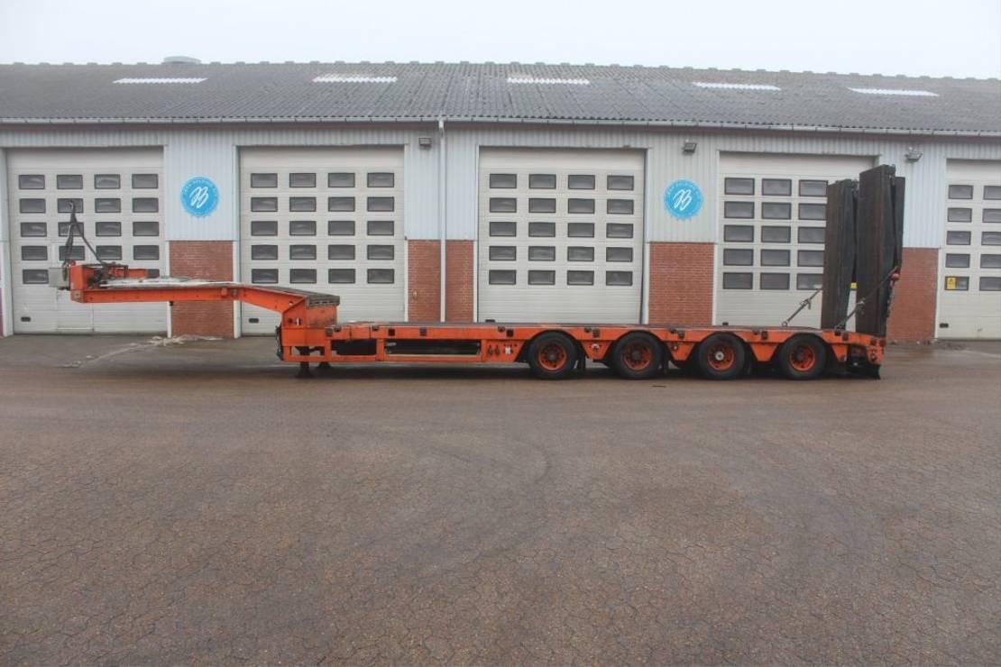 semi dieplader oplegger Kel-Berg Machine trailer 2013