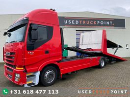 autotransporter vrachtwagen Iveco Stralis 450 / Falkom / Brille / Double Plateau / Winch / Euro 5 / Belgium Truck 2011