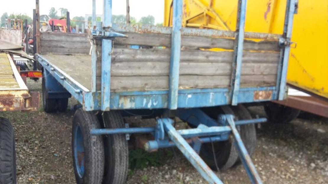 platte aanhanger vrachtwagen DAF aanhanger