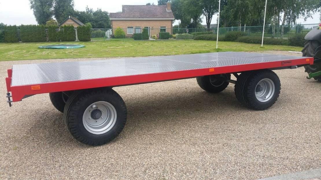 platte aanhanger vrachtwagen Diversen Balenwagen 10 ton